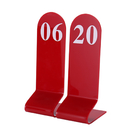 (Price/10PCS)Blank Acrylic Tent Table Numbers, Numbers Sign, Table Number Card for Hotel Wedding Reception