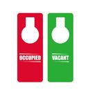 Custom Plastic Double Sided OCCUPIED VACANT Do Not Disturb Door Knob Hanger Sign, 3.15