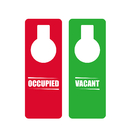 Blank Plastic Double Sided OCCUPIED VACANT Door Hanger Sign for Hotel Office