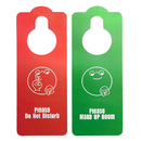 Custom Premium Quality Double Sided Do Not Disturb Meeting in Session Door Hanger Sign, 3.55