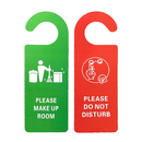 Custom Double Sided Please Make Up Room Door Hanger Tag Warning Sign, 3.55