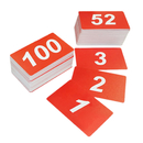 Blank Double Side Plastic Numbers, Number 1 to 100