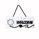 Blank Hanging Welcome Sign for Store Cafe Hotel Restaurant Home