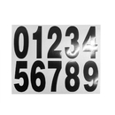 Blank Numbers Stickers Self Adhesive Numbers 0-9 Letters a-h for Mailbox Signs Door
