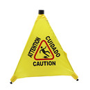 Blank Foldable Caution Wet Floor Safety Sign, Pop-Up Floor Cone, Approx 20