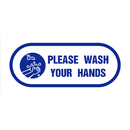 Aspire Please Wash Your Hands Sign, Take Your Temperature Sign with Self-Adhesive Backing