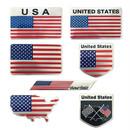 Blank US American Flag Series Metal Emblem, Self-Adhesive, Waterproof and Weather-resist
