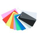 (Pack of 200 PCS) Blank Colored Plastic Tags Hang Sign with Snap Lock