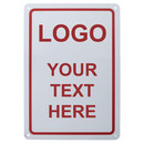 Custom Rectangle Shaped Aluminum Sign Add Your Text, 7
