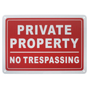 Aspire Private Property No Trespassing Sign, Premium Aluminum, Indoor and Outdoor Use, 7