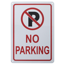 Aspire Aluminum No Parking Sign, Easy to Mount, 7