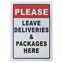 Aspire Please Leave Deliveries and Packages Here Sign, 7