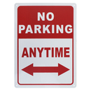 Aspire Premium Aluminum No Parking Anytime Sign for School and Business, 10