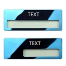 Personalize Stainless Steel Reusable Window Name Badge Tag, Laser Engraved, 2-3/4