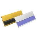 Blank Aluminium Alloy Reusable Window Name Badge, 2-3/4