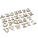 Blank Wood Letters, Wood Numbers, A to Z, 0 to 9,  Self-adhesive, 1.2
