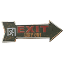 Aspire Metal Tin Sign, Arrow Sign, for Pub Cafe Wall Decoration, 3-3/10