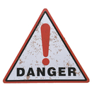 Aspire Metal Tin Sign, Triangle Sign, Danger/Keep Out Sign