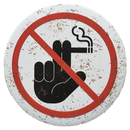 Aspire Round Metal Tin Sign, Warning Sign, No Smoking Sign, No Parking Sign, 12