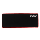 Custom Waterproof Rubber Base Gaming Mouse Pad with Stitched Edges, 30 1/2