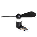 Blank USB Phone Fan, for Android and USB, 2 in 1