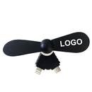 Custom Mini USB Phone Fan, Cavel Shape, 2 in 1