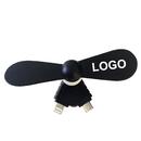 Custom Mini USB Phone Fan, Cavel Shape, 2 in 1