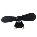 Blank Mini USB Phone Fan, Cavel Shape, 2 in 1