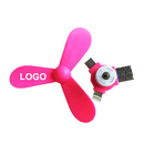Custom USB Phone Fan, three leaf Fan, 3 in 1, Great Wind Power