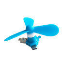 Blank USB Phone Fan, Three Leaf Fan, 3 in 1, Great Wind Power
