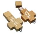 Customized Wooden Cross 2GB USB Flash Drive