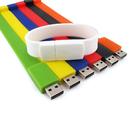 Blank 8G Silicone Sportie USB Flash Drive Bracelet, 8 5/8