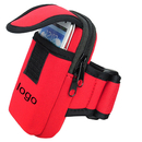 Custom Neoprene Arm Mobile Phone Holder with Double Pockets & Velcro Arm Strap, 3