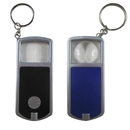 Blank Magnifying Glass Keychains with Led Flashlight