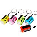 Custom Hand Crank Rechargealbe Flashlight with Keychain