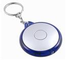 Blank Round Led Flashlight Keychain