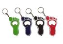 Blank Foot Shaped Bottle Opener Flashlight Keychain