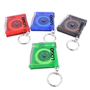 Promotional Translucent Flashlight Tape Measure with Keychain