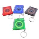 Blank Translucent Flashlight Tape Measure with Keychain