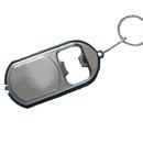 Promotional LED Flashlight Bottle Opener with Keychain
