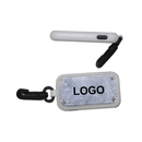 Blank Rectangle Flashlight with clip,4 1/2