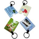 Custom Pocket Card LED light With PVC keychain, 2.17