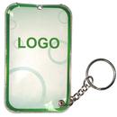 Custom Pocket Card LED light With Metal keychain, 2.17