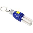 Custom CFL Light Bulb Keychain, 3 1/3