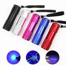 Custom Blacklight Ultraviolet 9 LED Flashlight, Portable UV Light, 3.5