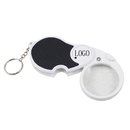 Custom Light up Magnifier Keychain - 5X Lens - 1 LED, 3.5