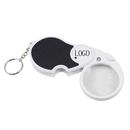 Custom Light up Magnifier Keychain - 5X Lens - 1 LED, 3.5
