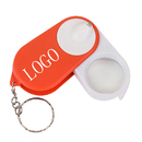 Custom 15X Light up Folding Magnifier Keychain - 1 LED, 2.68