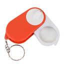 Blank 15X Light up Folding Magnifier Keychain - 1 LED, 2.68