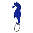 Custom Seahorse Shape Bottle Opener with Keychain, Laser Engraved, 2-7/8